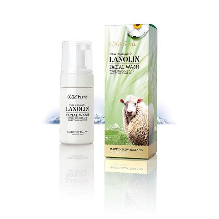 Lanolin Foaming Facial Wash with Propolis and Sweet Orange
